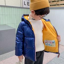 Vente en gros 2020 nouveau moyen de veste en duvet pour les enfants et les grands enfants petit espace hommes d'argent épaissies petits et enfants moyen des bébés garçons et girlsVVT8
