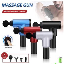 Wholesale Wholesale 4 Colors 6 Gears 4000r Low Noise Massage Gun Deep Muscle Massage Gun Fascial Relax Full Body Vibration Machine