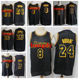 Wholesale basketball los angeles online – design Black Mamba Mens Los Angeles Lakers Kobe Bryant nba Lebron James Snake Skin limited edition shirts Basketball Jerseys