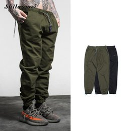 mens long cargo pants NZ - Men's Cargo Pants letter print 2020 Casual Male sweat pants Tactical Long Trousers black green Mens Joggers streetwear