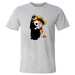 luffy clothing Australia - One Piece Luffy Tshirt Casual Men T Shirt Summer homme O-neck Streetwear Man T-Shirt Cotton Male Clothes Anime Funny Top Tees