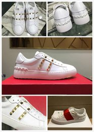 studded flats NZ - 2020 high quality Woman or Man Rivets Flats Shoes Weaving Leather Patchwork Trendy Casual Shoes Studded Sports sneakers
