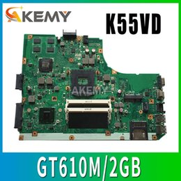 mainboard for laptop Australia - K55VD Motherboard REV:3.1 3.0 GT610M 2GB For ASUS K55V A55V R500V laptop Motherboard K55VD Mainboard test 100%