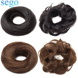 auburn ponytail hairpiece NZ - SEGO 23g 100% Human Hair Bun Scrunchies Updos Donut Chignon Hair Extensions Wrap Ponytail Remy Hairpiece Straight&Curly