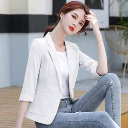 Wholesale zipper repairs for sale – custom 2020 spring new short slimming small suit women s long sleeve Korean style jacket jacket all match suit top spring and autumn repair bRFtF b