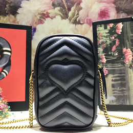 cell phone shoulder Australia - Ladies Fashion Mini Fashion Crossbody Cell Phone Bags Quilted Leather Black Womens Cross Body Shoulder Bag