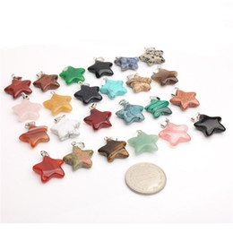 hot natural healing crystals Australia - Fashion Natural Stone Agate Pendants Healing Crystals Diy Pendant Pentagonal Shaped Star Necklace Ornaments Accessories Hot Sale 1 25jd B2