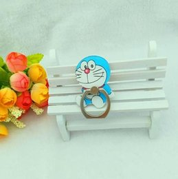 standing cartoon cat NZ - Robot Universal Ring Cartoon Samsung 360 Degree 8 Finger Ring Huawei For Holder Bracket Stand Cat Phones Phone Iphone KuEKG casecustom
