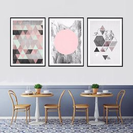 Fashion Wall Room Living Decoration Abstract Art Painting Geometric on Sale