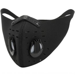check valve UK - K5JrE Cycling Sports Bicycle maskmask with filter element dustproof anti-allergy anti-haze anti-wind dustproof with breathing valve breathab