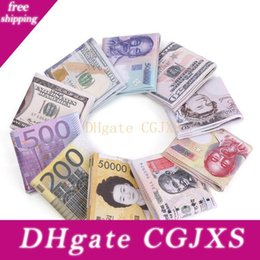 Wholesale world fabrics for sale - Group buy New Arrival World Currency Bill Wallet Bifold Pu Money Wallets Short Purse Usd Dollar Pound Card Holder Storage Bag