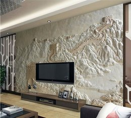 hotel chinese painting NZ - Great Wall Painting Sand Carving Factory Direct Chinese Hotel Art Sandstone Relief Mural Sandstone Relief Decorative