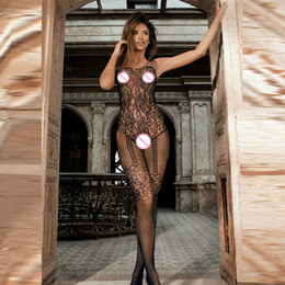 Wholesale porn women costume for sale - Group buy qualityPlus Size Sexy Lingerie Fishnet Sexy Hot Erotic Costumes Sex Clothes For Women Porn Open Crotch Babydoll Transparent Mesh Dress