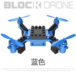 2.4G DIY Building Blocks Drone 6 Axis Gyro Assembled Remote Control Aircraft Quadcopter WIFI Drone Aerial Kid Toys No Camera on Sale