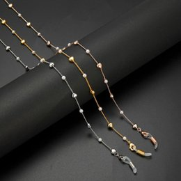 sunglasses chain straps Canada - Teamer Simulated Pearl Beaded Heart Glasses Chains for Women Sunglasses Straps Hanging Neck Holder Fashion Accessories Gifts