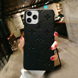 Designer Phone Cases for Iphone 11 Pro Max 12 XS XR X 7 8 plus fashion PU Leather imprint patterncurve cover drop shipping