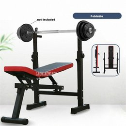 Venta al por mayor de Multifuncional de peso de banca con barra de pesas rack cama plegable con barra banco de entrenamiento de elevación Sujetador de Prensa a33N Marco #