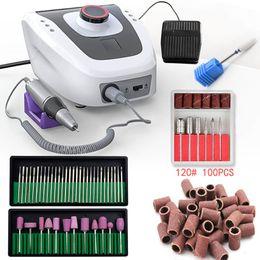 Großhandel 32W 35000RPM Maniküre Maschine elektrische Nagel-Bohrgerät-Maschine Vorrichtung zum Manikürepedicure mit File Cutter Nagelbohrer Werkzeug CX200812