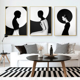 nude body painting Australia - Fashion Sexy Girl Poster Black And White Body Wall Art Pictures Canvas Painting Living Room Decor Nordic Home Decoration