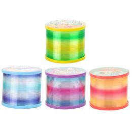 Ingrosso Kid Toy insegnamento precoce 40PCS Magic Rainbow primavera Pull Toy Toy Model primavera arcobaleno colorato luce scintillante