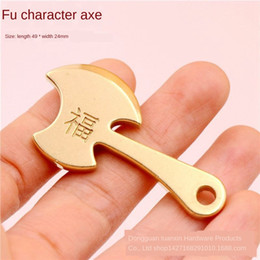 courage pendant NZ - Pure Brass courage blessing axe key men's necklace chain chain pendant pendant fashion and simple decoration