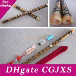 dizi instrument UK - Chinese Bamboo Flute Natural Bamboo Dizi National Musical Instruments Professional Flauta Two Section With Brass Plug