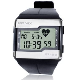heart calendars 2021 - Fashion Heart Rate Monitor Men Sports Health Fitness Calories Watch 100 Meters Diving Waterproof Digital Watches Montre Homme