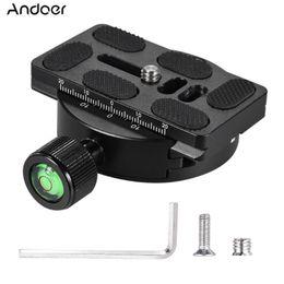Großhandel Andoer KZ-40 Universal-Aluminium-Legierung Stativkopf Disc Clamp Adapter w / PU-70 Schnellwechselplatte Kompatibel für Arca Swiss