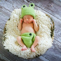 baby clothes frogs Canada - Photo Studio Prop costume newborn photography props clothing cartoon animal clothing Frog Baby Photo suit