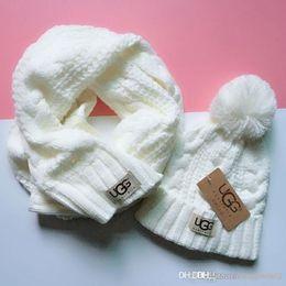 alta qualidade de moda marca Hot yojojo terno chapéu cachecol quente homens e mulheres inverno cheio malha chapéu morno em Promoção