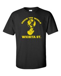 undefeated shirt Australia - Brand New 2019 Summer Mens Short WICHITA STATE SHOCKERS Shock The World Undefeated Season Men's Cute T Shirts