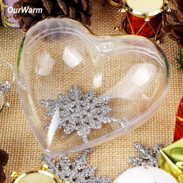 designer transparent bags NZ - 10pcs 100mm Heart Shape Clear Plastic Box Acrylic Transparent Bag for Wedding Gift Box Party Favors Supply Christmas Decoration