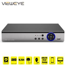 ViewEye 4CH 8CH 1080P 5 в 1 DVR видеорегистратор для AHD аналоговой камеры камера IP P2P NVR система видеонаблюдения DVR H.264 VGA HDMI на Распродаже