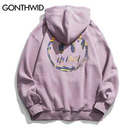 Wholesale van hoodie online – oversize GONTHWID Van Gogh Starry Night Print Fleece Hoodies Sweatshirts Streetwear Men Hip Hop Pullover Hooded Tops Male Harajuku Jumper CX200815