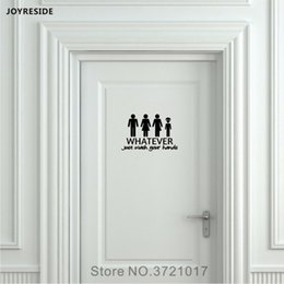 bathroom funny wall stickers Australia - Unisex Restroom Bathroom Toilet Door Wall Decal Vinyl Sticker Decor Funny Wash Your Hands Alien Home Decoration