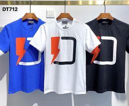 Wholesale thunder shirt online – design 2020 Ins Hot Spring Summer American Thunder Logo Tee Skateboard Mens t shirt Women Street Casual Tshirt