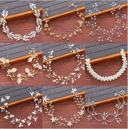 Bridal Headbands Wedding Hair Accessories Rhinestone Pearl Headband Women Hair Jewelry Bride Tiara Headbands Woman's Accesories