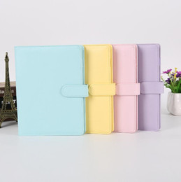 Wholesale Empty Notebook Binder Loose Leaf Notebooks without Paper PU Faux Leather Cover File Folder Spiral Planners Scrapbook 4 Colors A6 YL239