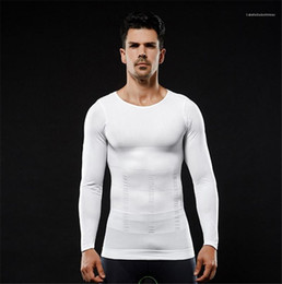fitness clothing mens NZ - Sleeved Sports Bottoming Tees Solid Color Mens Designer Tshirts Fitness O Neck Body Sculpting Clothing Long