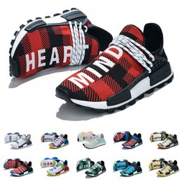 human race sneakers blue UK - Newest NMD Human Race Running Shoes for men and women Infinite Species BBC Cheaper Hu Pharrell Williams Solar Pack Oreo Know Soul Sneakers
