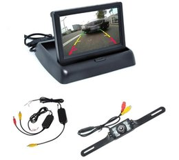 "security setting Canada - New Car Rear View Camera Set 4.3"" TFT LCD Monitor Wireless Transmitter Receiver Backup Reverse Camera Parking System Night Vision"