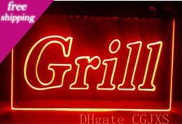 Wholesale neon bbq sign for sale – custom Grill Open Bar Pub Bbq New Nr Club d Signs Color Led Neon Light Sign