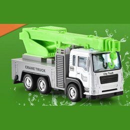 Wholesale excavator online – design Design of gel drive alloy fire fighting toy car children s engineering car model Boy and girl fire fighting excavator gift box set