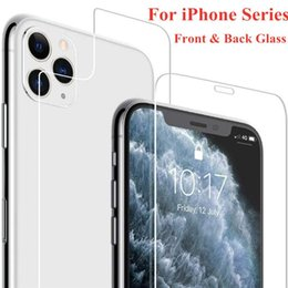iphone glass screen protector front back Australia - Front+Back Film Safety Tempered Glass Cover on for iPhone 11 Pro Max XS XR X 8 7 6 6S Plus 5 5S 4S Screen Protector