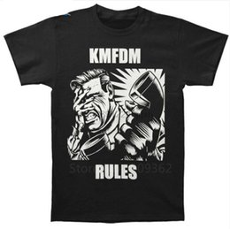 shorts for tall men Australia - Printed Shirts Crew Neck Short Novelty Band Kmfdm Tall T Shirt For Men