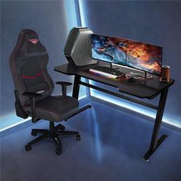 """Игровой рабочий стол 47.2 """"W x 23.6"""" Doffice Компьютерная таблица, Черная Геймер Рабочая станция с 2 отверстиями для управления кабелем W20615682 на Распродаже"""