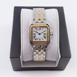 venda por atacado Venda Quente Mulheres Relógios Nova Moda 22 * 30mm Dial Alta Qualidade Ouro / Prata Aço Inoxidável Quartz Lady Relógios com Diamante Frete Grátis