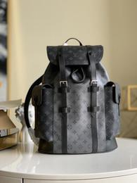 Toptan satış Christopher Erkek Açık Spor Sırt Çantası Seyahat Çantaları gümüş siyah çiçek Sırt Çantası erkeklouisçanta Haftasonu çantası