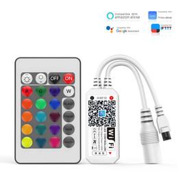 LED Wifi Kontrolör, Alexa, Google Home, WIFI Kablosuz Akıllı Denetleyici itibaren RGB Şerit Led Işık Ses Kontrol