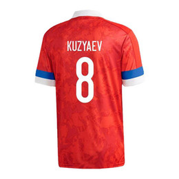 jersey russia 2021 - Player version 2020 European Russia HOME Soccer Jerseys 2020 National Team AKHMETOV DZYUBA GOLOVIN Soccer Shirt SMOLOV Y